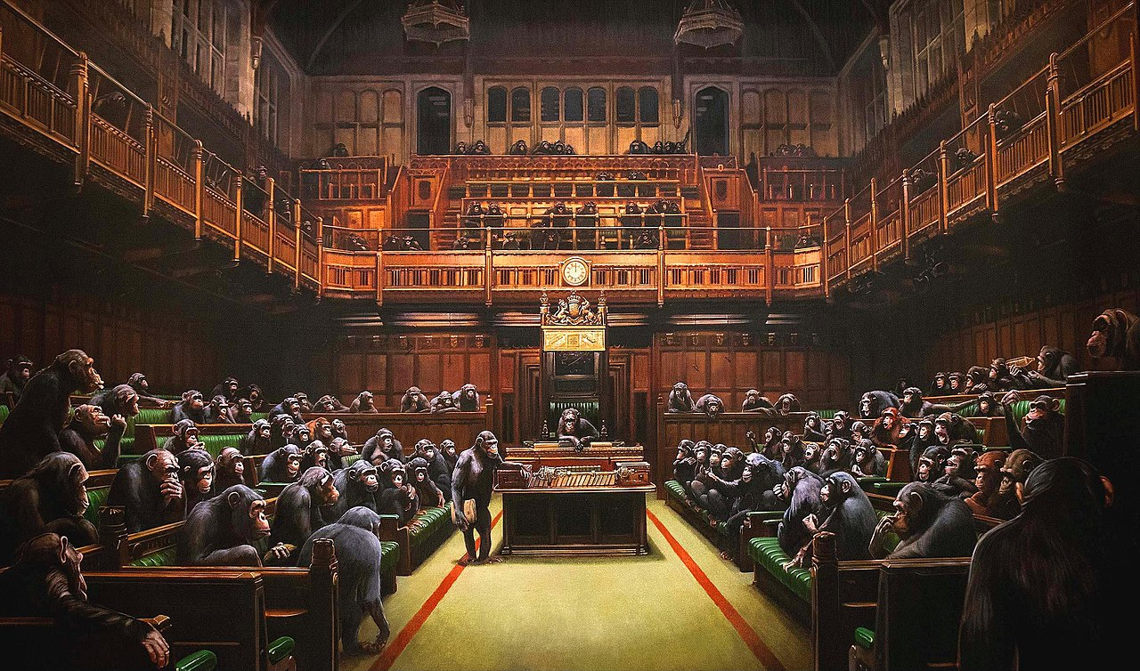 Devolved Parliament — A World-Famous Painting by Banksy