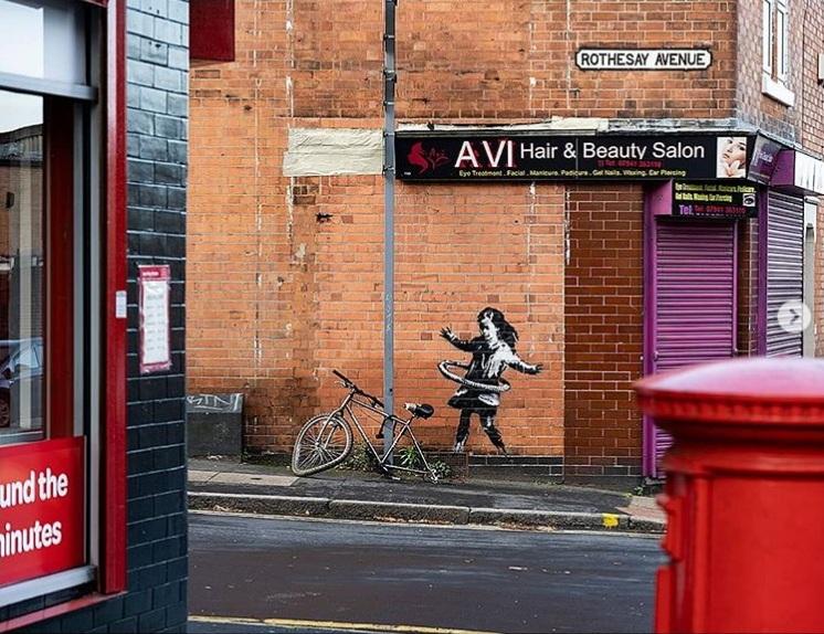 Nottingham's Hula-Hooping Girl — New Artwork by Banksy